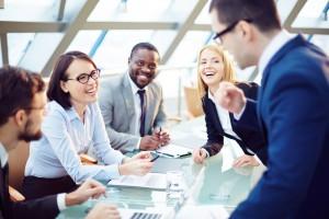 reuniones, empresa, trabajo, dirección