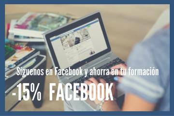 descuento, facebook, promocion, formacion