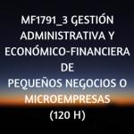 Gestion administrativa y economico-financiera de pequeños negocios o microempresas, certificados de profesionalidad, curso online
