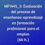 Evaluación, online, certificado de profesionalidad, online