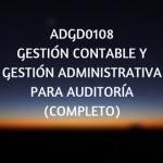 ADGD0108 Gestion contable, certificados de profesionalidad, online, administracion, curso online