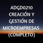 Creacion y gestion de microempresas, certificados de profesionalidad, cursos online, teleformacion