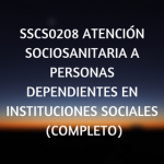 sociosanitaria,online, cursos, certificados de profesionalidad